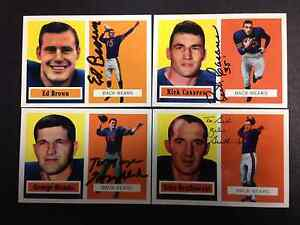 1957 Topps Archives Autographed Card Ed Brown Chicago Bears with COA