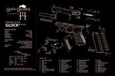 """GLOCK Handgun TekMat Gun Cleaning Mat 11""""x17"""" Armorers Exploded View Gen 4"""