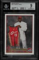 2003-04 Topps LeBron James #221 BGS 9 MINT Rookie Card RC (9,9,9.5,9) 9.5 SUB!
