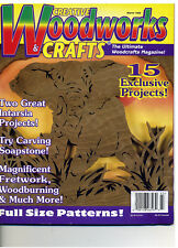 Creative Woodworks & Crafts March 1999 Scrolling Carving Intarsia Painting& More