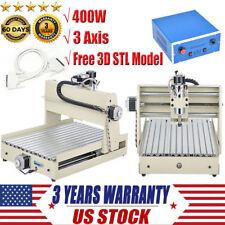 400W 3 Axis CNC Router Engraver Desktop Engraving Drilling Milling Machine 3040T