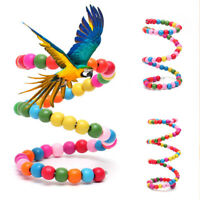 Parrot Pet Budgie Bird Swing Cockatiel Ladder Swing Hanging Parakeet Chew Toy