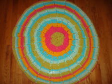 ROUND MULTI COLOR HAND CROCHET BABY BLANKET