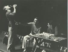 Dario Fo, répétition Vintage silver print Tirage argentique  18x24  Circa