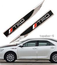 2Pcs Metal TRD Blade Fender Badge Car Body Side Skirts Sticker Emblem