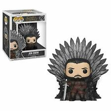 Funko 37791 Pop! Deluxe: Game of S10: Jon Snow Sitting on Iron Throne