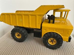 Tonka Mighty Dump Metal Construction Loader Truck Yellow Vintage Toy