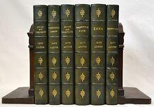1907-1909 JANE AUSTEN SET 6 VOLUME LEATHER COLORED ILLUSTRATIONS by BROCK FINE!!