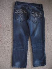MEN'S AVIREX EMBROIDERED ROCKER JEANS WAIST 32 LENGTH 32