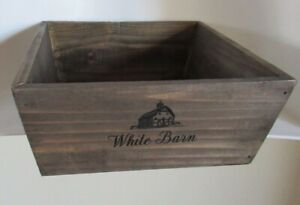 BATH & BODY WORKS BROWN WOOD CRATE TRAY GIFT SET BOX BASKET DECOR HOLDER WOODEN