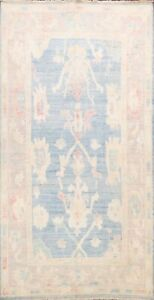Muted Oushak Turkish Oriental Area Rug Distressed hand-knotted Foyer Carpet 5x8