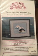 Foxberry Cottage A Whale Of A Tale Counted Cross Stitch Embroidery Kit C3055
