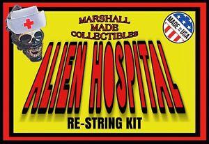 """1979 Kenner 18"""" ALIEN RESTRING KIT! In Custom Package Alien Hospital Pack Of 10"""