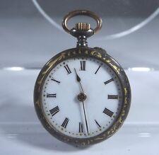 Antique Victorian Small Decorative Ladies Pocket Watch - Needs Repair