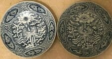 Pair of Chinese Ming Dynasty Swatow Shipwreck Large Plates