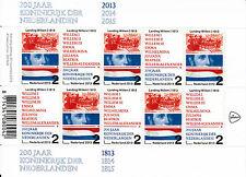 Netherlands Nederland 2013 MNH 200 Years Kingdom Value 2 10v M/S King Willem I