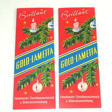 2 Unused Packs German Gold Lametta Christmas Tinsel