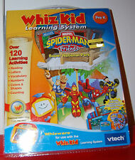 """New Vtech Whiz Kid """"Whizware"""" Learning System Software - Spiderman & Scooby-Doo"""