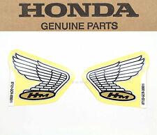 New Genuine Honda Wing Tank Decals Emblems Cafe Bobber CB50R OEM Label Set #H77