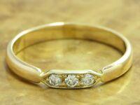 14kt 585 GOLD GELBGOLD RING MIT 0,09ct. BRILLANT BESATZ DIAMANTRING BRILLANTRING