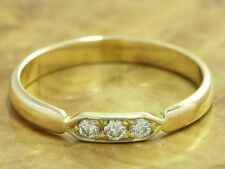 14kt 585 GOLD GELBGOLD RING MIT 0,09ct. BRILLANT BESATZ DIAMANTRING BRILLANTRING