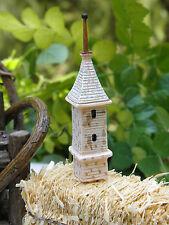 Miniature Dollhouse Fairy Garden Accessories ~ Monastery Tower Birdhouse ~ New