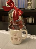 New Rae Dunn BAH HUMBUG Ceramic Coffee/Tea Cup Mug by Magenta With Chocolate