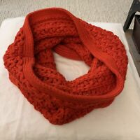 Ann Taylor LOFT Red Sparkly Holiday Christmas Knit Infinity Scarf One Size