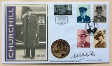 24.1.05 Churchill, Sig.ANTHONY MONTAGUE- BROWNE.Cabinet War Rooms Medallic Piece