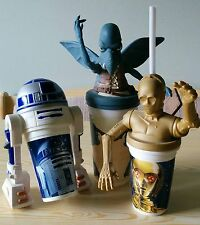 Star Wars Phantom Menace Taco Bell Cup Toppers C3Po R2-D2 Watto