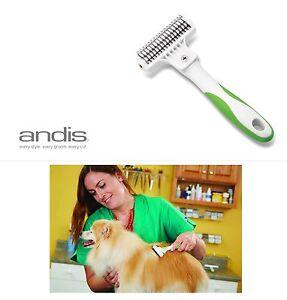ANDIS DOG COAT Hair DE-SHEDDING STRIPPING STRIPPER Dematting Rake TOOL Mat Shed