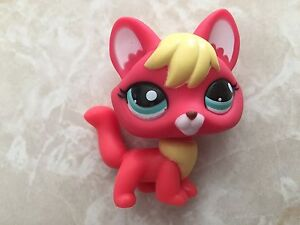 Littlest Pet Shop RARE Fox #2642 Orange Red Yellow Pink Aqua Blue Green Lps