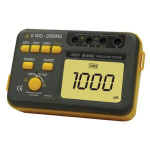 Supco M1000D Megohmmeter/AC Voltage Tester, 250 VAC/500 VAC/1000 VAC