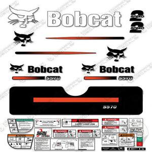 Bobcat S570 Compact Track Loader Decal Kit Skid Steer (Straight Stripes)