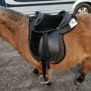 """Synthetic Cub Saddle Complete Kit - Black or Brown - 8"""", 10"""", 12"""" & 14"""""""