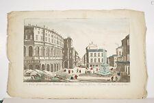 VUE d'OPTIQUE Gravure XVIII° ROME Vue du Fameux Théâtre de Marcellus