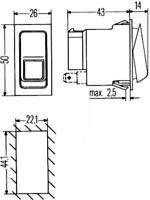 Warnblinkschalter für Signalanlage, Universal HELLA 6HH 007 832-281