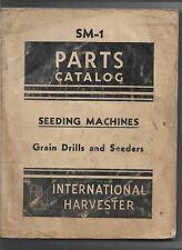 International Horse Tractor Seeding Machines Grain Drill Seeders Parts Catalog
