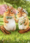 Chipmunk Bride And Groom Funny Wedding Card - Greeting Card by Avanti Press photo