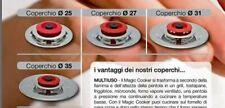 MAGIC COOKER Coperchi Diam. 25-27-31-35cm Acciaio Inox  + 4 Regali fantastici