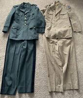 US Army Lieutenant Colonel Vietnam Era Dress Uniforms Green + Khaki - Coat/Pants