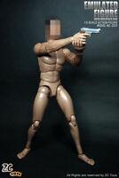 """12"""" ZC TOYS Male Muscular Body Figure Dolls  Fit 1/6 Scale Man Head Sculpt Model"""