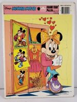 Disney Minnie Mouse Frame Tray Puzzle Golden Kids Collectible #4510A-53 Complete