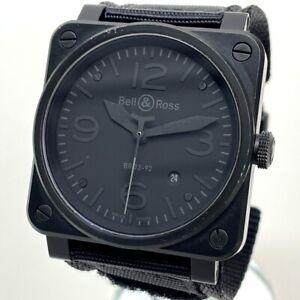 Bell&Ross BR03-92 All Black Date Men's Wristwatch SS Black