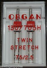 Organ Sewing Machine Twin Needles Size 75 / 2.5 S Work on Brother Singer