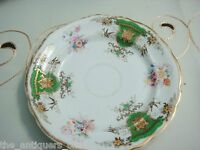 """Dresden Armorial bread plates, 6, flowers,birds and gold, 7 1/2"""" [*a14]"""