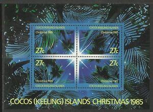 COCOS IS 1985 CHRISTMAS NIGHT SKY SOUVENIR SHEET MNH