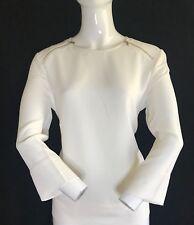 BNWT ARMANI Ladies Longsleeve Zip Detail Blouse Size L (16)