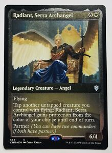 Mtg. Commander Legends. CMR. 553. Radiant, Serra Archangel. Etched Foil.