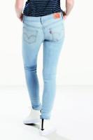 New Levi's Womens 535 0292 Super Skinny Light Blue Stretch Denim Jeans 31 x 30